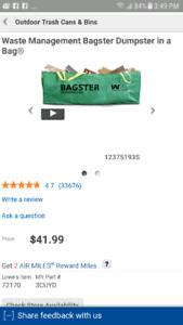 Bagster - Unopened / Unused 25.00