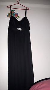 black spaghetti strapdress size22
