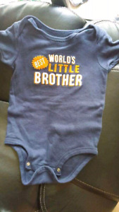 Worlds best little brother size 12 months $3