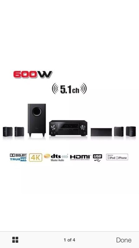 Pioneer HTP-072 5 1 Ch 600W 3D HD AV Receiver Home Cinema System 4K | in  Falkirk | Gumtree