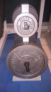 Northern Lights bench and Olympic Weight Set