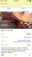 OVAL KITCHEN TABLE SIX CHAIRS