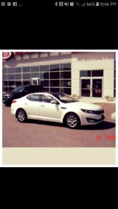 White 2013 4 door kia Optima lx plus