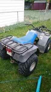 Clean running Yamaha 250 quad