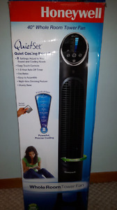 """Honeywell QuietSet 40"""" Tower Fan Whole room cooling with timer"""