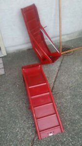 Reinforced  steel ramps for heavy vehicles - new condition