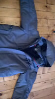 MEC boys size 10 winter jacket waterproof RECCO in slate