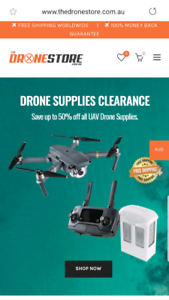 Online Drone Supplies Business For Sale