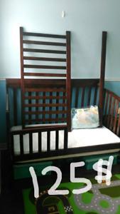 Crib & Toddler bed & mattress