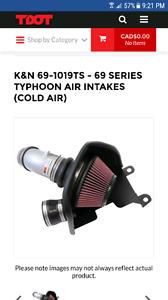 K&N typhoon cold air intake