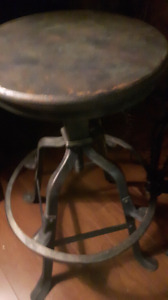 Antique Army Stool.