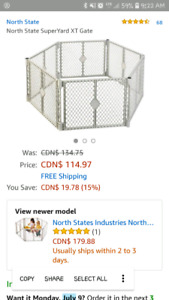 Six sided baby/pet gate