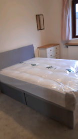 Double bed mattress and headboard £220