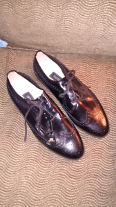 Mens New Black Leather Shoes
