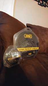 New AFAM front and rear sprockets!! FITS GSXR