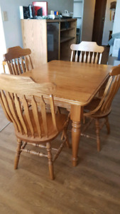 Dinning set, coffee and end tables