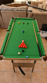 Debut 4ft 6in Snooker and Pool Table Snooker folding ONO