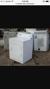 $10-30 for your broken or unused washer or dryer