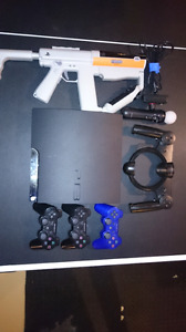 Sony PS3 with move and 3 remotes