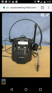 Cordless headset phone