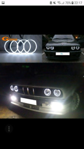 ★BMW E30 Halo Rings Angel Eyes Solid White CCFL + inverters★$20!