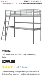 Ikea Bunk bed with desk