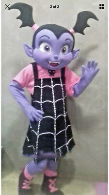 ADS Cartoon Character Mascot Purple Girl Costume Halloween Party Fancy Dress](Girl Cartoon Character Costumes)