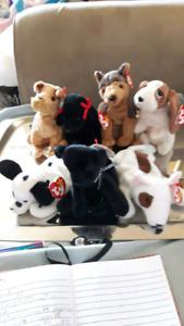 Dog lot Ty Beanie Babies mwmt $drop