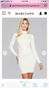 Marciano dress in size small (milky white)
