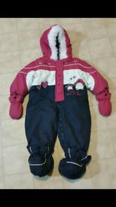 Girls Snowsuit - sz 12 mths