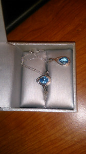 Silver-diamond set