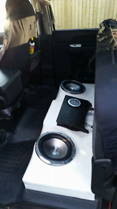 Fiberglass dual 10 inch ported box only 2008 to 2013 chevy r gm