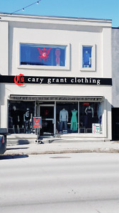 CARY GRANT CLOTHING STORE DOWNTOWN BARRIE