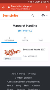 Boots and Heart ticket with tent camping