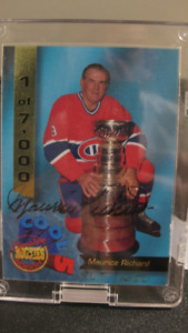 **Reduced Price** Maurice Richard Autographed Hockey Card