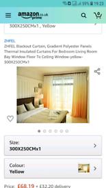 Beautiful gradient orange curtains- never hung