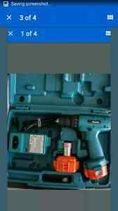 Makita cordless drill complete with case,charger,and 2 batteries