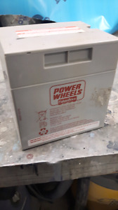 12 v battery for fisher price electric cars etc.w/ charger
