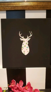 Deerhead modern abstract wall art home decor canvas painting