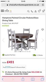 BNIB round table and 4 chairs