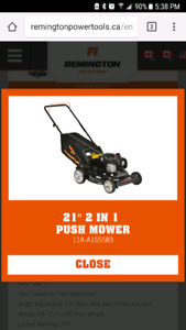 And of season special lawnmower for sale