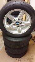 """set of 16"""" BMW Rims and Tires continental (225/50/zr16)"""