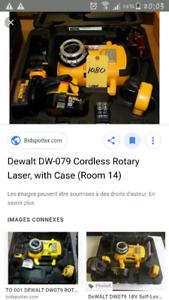 Laser rotatif Dewalt servi pour une job seulement
