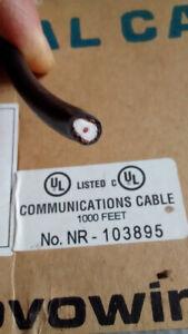 Câble coaxial 18AWG  - RG6U - FT4 - cuivre (blindé à 95%)