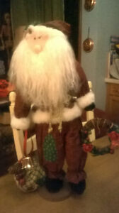 Large 22 Inch Santa, on Base