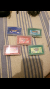 Pokemon Fire Red, Ruby, Emerald, Sapphire, and Leaf Green