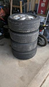 Set of 4 Hyundai Tucson Tires and Rims