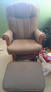 Rocking chair with gilder foot stool