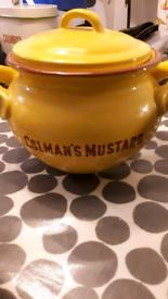 Colman's Mustard large ceramic pot