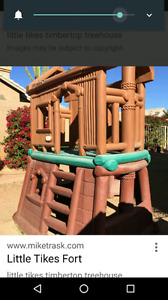Little tikes climber treehouse with slide.
